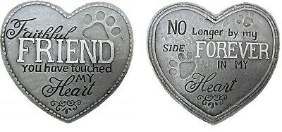 Heart Shape Pet Memorial Plaque Dog Grave Stone Puppy Loved Animal Remembrance  • 3.99£