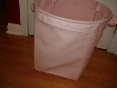 $25 • Buy Pottery Barn Kids Large Solid Pink Canvas Toys Laundry Tote Bin