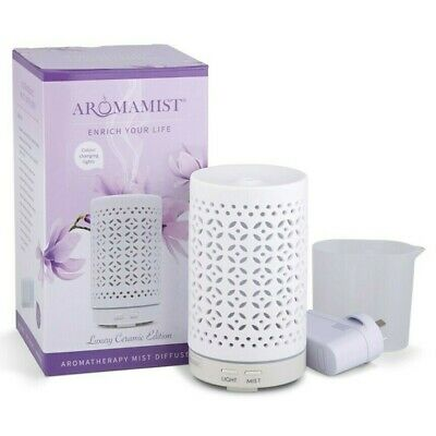 AU86.99 • Buy Aromamist Mistique Eco Mist Diffuser - Essential Oil White Ceramic Diffuser