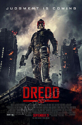 AU22.22 • Buy MCPoster - Dredd 3D Movie Poster Glossy Finish - PRM195