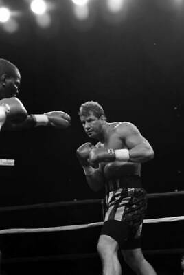 LARGE OLD BOXING PHOTO Tommy Morrison Looks To Throw V Marshall Tillman 1 • 4.69£