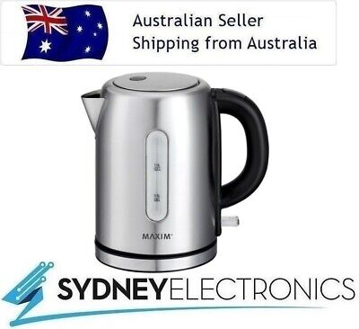 AU38 • Buy Maxim 1L 2200W Stainless Steel Small Cordless Kettle Electric Jug Water Boiler