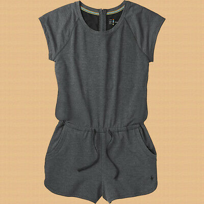 $50 • Buy New! $90 Smartwool Women's Active Reset Merino Wool Romper. Charcoal, Medium