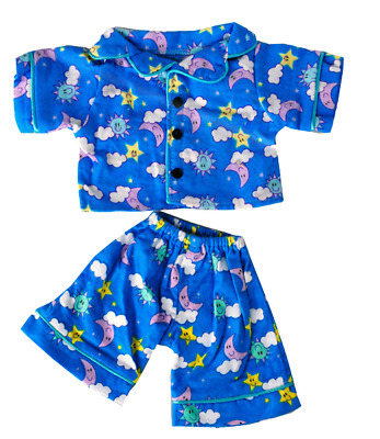 Blue PJ Pyjamas Teddy Bear Clothes Outfit To Fit 8  - 10  20cm Bears Animals • 7.99£