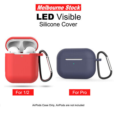 AU5.99 • Buy Silicon Case Cover For Airpods 1 2 Case Cover Skin Anti Lost Strap Shockproof