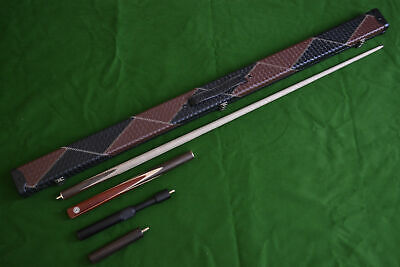 Handmade 3/4 Piece 57.1 Inch Ash Snooker / Pool Cue Set With Case And Extension • 89.99£