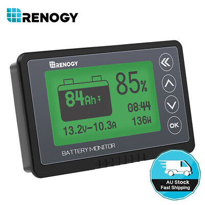 AU109.99 • Buy Renogy 500A Battery Monitor Caravan RV LCD Alarm Tester Power Display