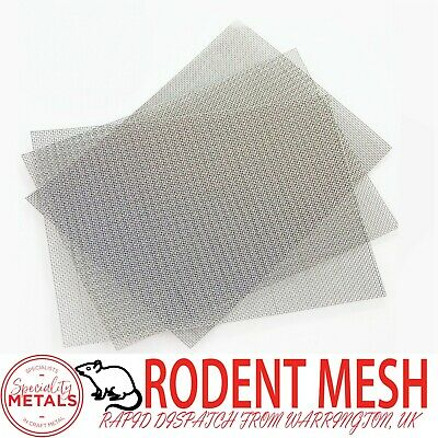 Rodent Airbrick Stainless Steel RatMesh(#16x0.4mm Wire) A5 Sheet 150 X 200mm X 3 • 3.99£