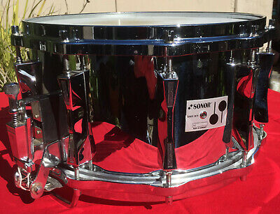 $850 • Buy Sonor Ferro Manganesse Steel D508X Snare Drum - 1994