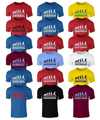 Evolution Of Football T-Shirt - Pick Your Team - Mens And Kids Sizes • 9.99£