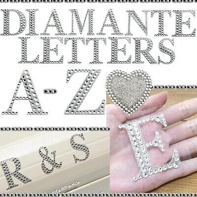 £1.29 • Buy 3D Self Adhesive Diamante Letter Stickers LARGE 5cm Craft A-Z Alphabet Stick On