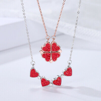 AU13.67 • Buy 925 Sterling Silver Necklace Valentines Day Gift For Her Mom Wife Girlfriend