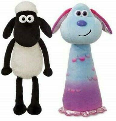 Farmaggedon Movie Shaun The Sheep & Lu-La 8in Soft Toys • 19.99£