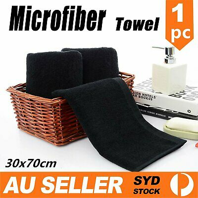 AU6.99 • Buy Microfiber Towel GYM Sport Footy Travel Camping Swimming Drying Microfibre Black