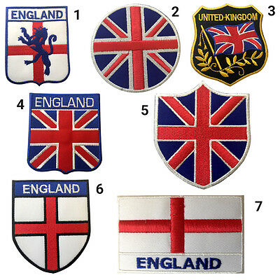 Union Jack & England Flags Embroidery Iron On/Sew On Patch Badge • 1.99£