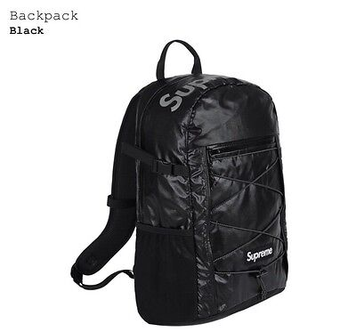 $ CDN376.59 • Buy Supreme Black Backpack 100D Cordura FW17 3M Reflective Ripstop Nylon Back Pack