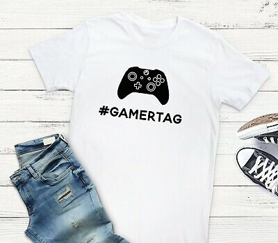 $ CDN19.08 • Buy Personalised Gamer Tag Username XBOX Style Controller Video Game T-Shirt/Tee