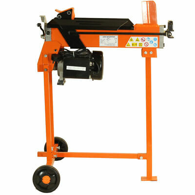 Electric Log  Hydraulic Splitter 5 Ton Axe Maul Cutter With Guard Stand & Bench • 329.39£
