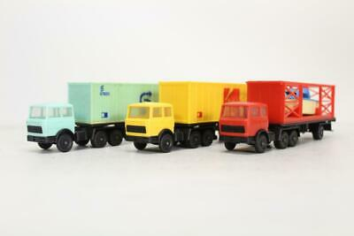 3 X Lima Container Lorries Wagon Loads Ho Gauge 1/87 D5 • 18£