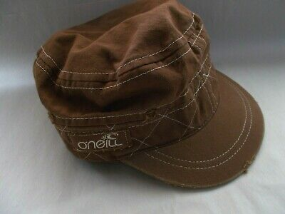 $17.60 • Buy O'NEILL Cap Hat Cadet Military Canvas Flat Top Beach Surfer Army Brown Baseball