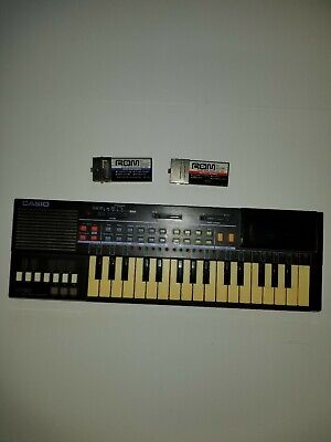 $99.99 • Buy Vintage Tested & Working Rare Black Pt 80 Casio Keyboard W/ 2 ROMs 551 & 335