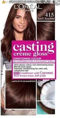 L'OREAL CASTING CREME GLOSS NO AMMONIA ICED CHOCOLATE 415 Semi Permanent Brown  • 7.25£