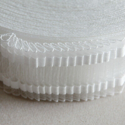 £7.95 • Buy 2  Deep Transparent Curtain Tape For Nets, Voiles & Sheers - 10 Metres