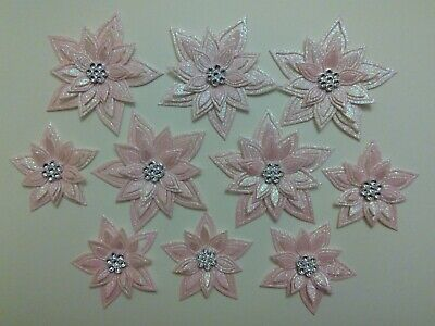 £3.25 • Buy  10 Pink Glitter Flower Card Toppers