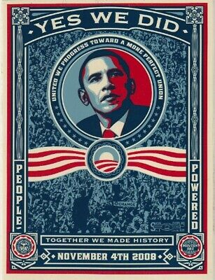$6.99 • Buy Barack Obama ~ Yes We Did ~ Large Campaign Political Memorabilia Ready To Frame!