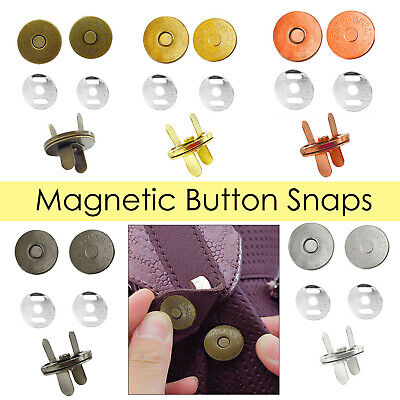 14mm/18mm Magnetic Snap Fasteners Washers Closure Clasps For DIY Leathercrafts • 2.05£