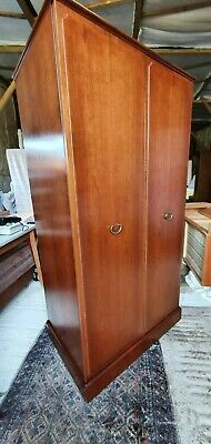 G Plan Gentlemans Teak Wardrobe Twin Doors Internal Draws 23 D X 70 H X 37.25 W • 140£