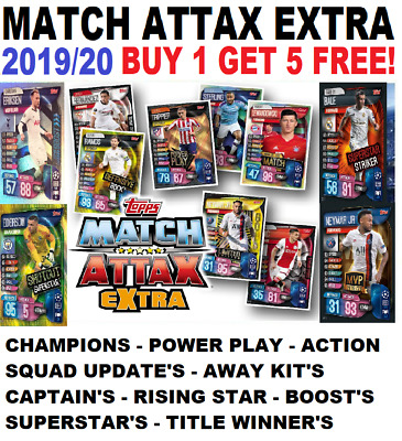 Topps Match Attax Extra Champions League 2019/20 19/20   BUY 1 GET 5 FREE!! • 2.49£