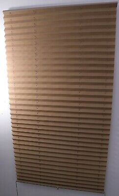 $64.95 • Buy RV Camper Pleated Shade Window Blinds 30  X 66  Tan Sand Long Curtain