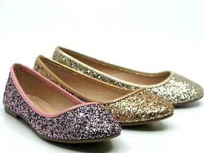 $13.95 • Buy Women Glitter Sequin Slip On Flats  Comfort Casual Loafers Walking Shoes Sz 5-10