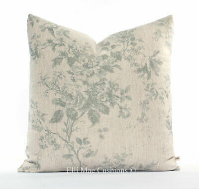 Cabbages And Roses Designer Fabric Alderney Blue Floral Cushion Pillow Cover • 39.99£