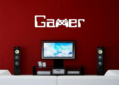 Wall Art Sticker Quote Gamer Gaming Boys Bedroom Words Ps4 Xbox Home Decor Diy • 5.99£