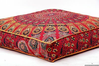 £18.69 • Buy Indien Daybed Big Seating Mandala Floor Pillow Cover Pouf Cushion Case Bohemian