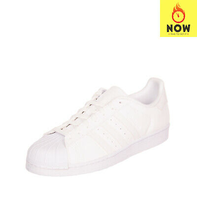 $ CDN34.49 • Buy ADIDAS ORIGINALS SUPERSTAR Leather Sneakers EU43 1/3 UK9 US10.5 Logo Pinked Trim