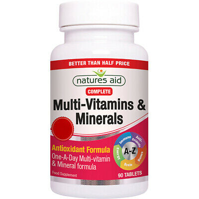 Natures Aid Complete One-A-Day Multi-Vitamins & Minerals - 90 Tablets • 7.30£