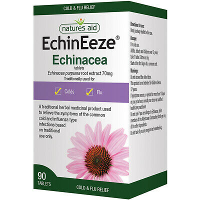 Natures Aid EchinEeze Echinacea Root Extract 70mg - 90 Tablets • 9.99£