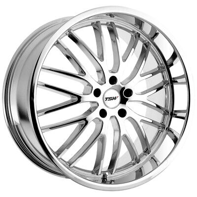 $1624.96 • Buy Staggered TSW Snetterton Front: 18x8, Rear: 18x9.5 5x120 Chrome Wheels Rims