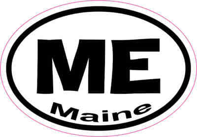 $5.99 • Buy 3X2 Oval ME Maine Sticker Vinyl State Vehicle Window Stickers Car Bumper Decal