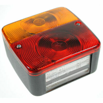 AU10.65 • Buy Rear Square Lamp For Trailer 4 Combination Trailer Board Light Bulbs Included