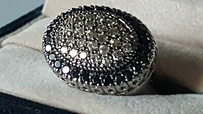 $85 • Buy CHARLES WINSTON Chocolate And Black CZ  Ring  Designer Signed  CWE  A STUNNER!!!