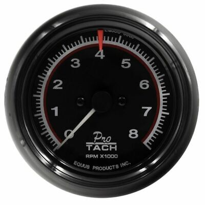 $49.99 • Buy Equus 3-3/8 Inch Black Faced Mechanical / Electrical Tachometer 6088 0-8000 RPM