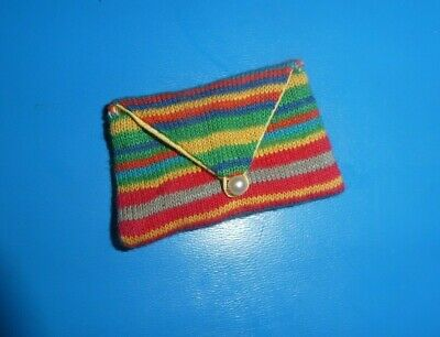 $ CDN23.17 • Buy Vintage Barbie Doll Clothes - Vintage Barbie Pak Striped Clutch Purse