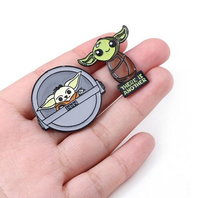 $3.50 • Buy The Mandalorian Baby Yoda Brooch Badge Enamel Lapel Alloy Button Pins Ornament