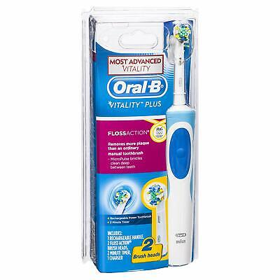 AU33 • Buy Oral-B Vitality Plus Floss Action Rechargeable Electric Toothbrush 2 Brush Heads