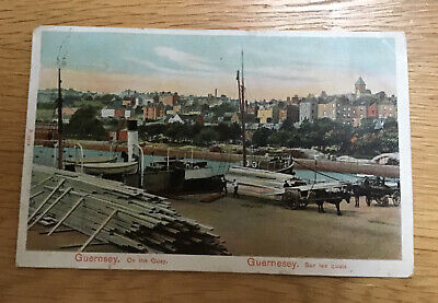 Edwardian Postcard Of On The Quay Guernsey • 1.25£
