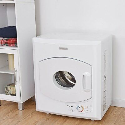 View Details 1400W Electric Tumble Compact Laundry Dryer Stainless Steel Wall Mounted White • 487.99$